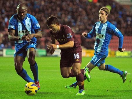 Aguero sẽ lại tiếp tục tỏa sáng khi gặp Wigan?