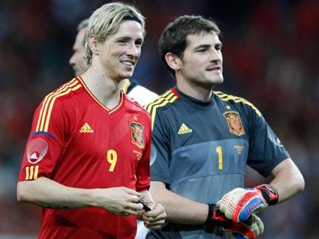 Torres và Casillas vẫn là những người không thể thay thế ở tuyển TBN