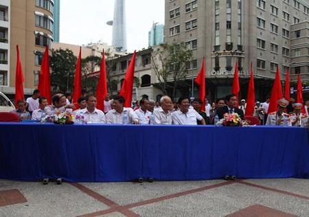Quan chức trung ương, TPHCM và địa phương tham dự lễ xuất quân.