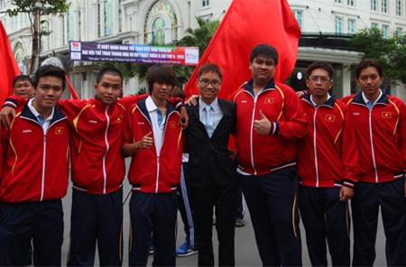 Các chàng trai Việt Nam quyết tâm mang thành tích về cho quốc gia