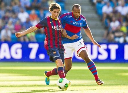 Các cầu thủ trẻ Barcelona đã có sự thể hiện khá tốt