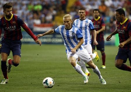 Barcelona phải rất khó khăn mới có thể đánh bại được Malaga
