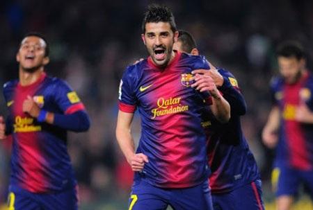 David Villa đã có những ngày tháng tươi đẹp cùng Barcelona