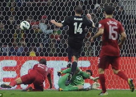 Bồ Đào Nha hòa cay đắng Bắc Ailen 1-1 ở lượt đi