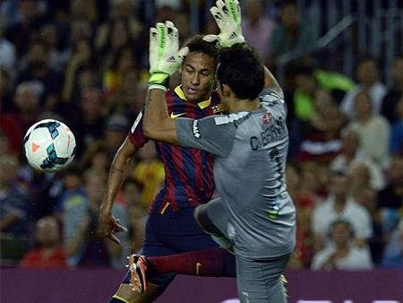 Neymar mở tỷ số cho Barcelona từ khá sớm