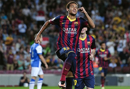 Neymar và Messi tỏa sáng trong chiến thắng của Barcelona