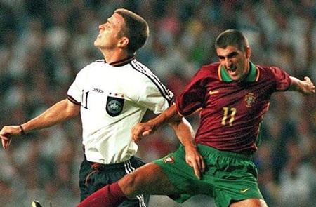 Bồ Đào Nha lỗi hẹn tại World Cup 1998 sau trận thua cay đắng trước Đức