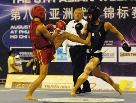 Wushu Việt Nam bị cắt khá nhiều thế mạnh ở nội dung tán thủ