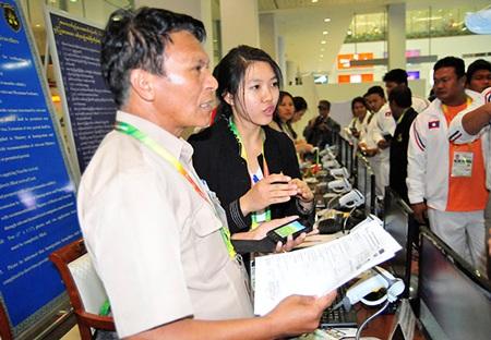 Đoàn thể thao Lào đã có mặt ở Yangon từ khá sớm