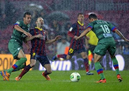 Barcelona dễ dàng thắng đậm Levante tại Nou Camp