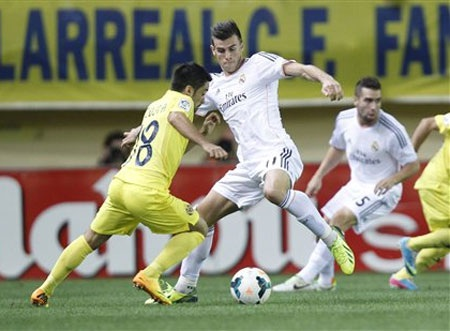 Gánh nặng ghi bàn vào lưới Villarreal được đặt lên vai Bale