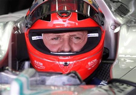 Nhiều tín hiệu lạc quan đang đến với Michael Schumacher