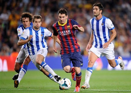 Lionel Messi tiếp tục được kỳ vọng ở trận đấu với Sociedad