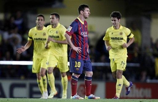 Messi ghi bàn quyết định giúp Barca ngược dòng đánh bại Villarreal