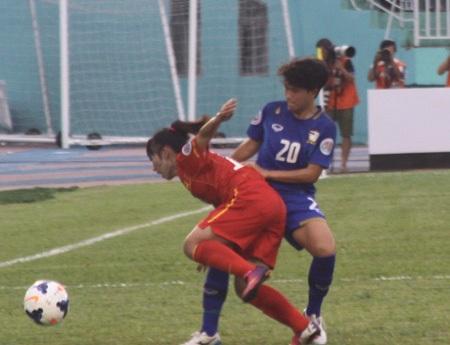Đội tuyển nữ Việt Nam đã lỗi hẹn với World Cup 2015 - Ảnh: Trọng Vũ