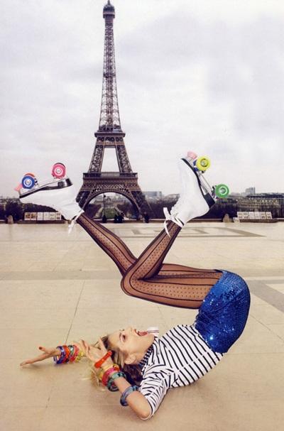 Anja Rubik và Natasha Poly khoe chân dài trên Vogue - 8