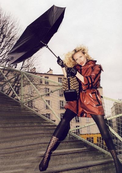 Anja Rubik và Natasha Poly khoe chân dài trên Vogue - 7