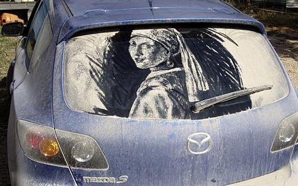 Biến ô tô phủ bụi thành tác phẩm nghệ thuật - 2