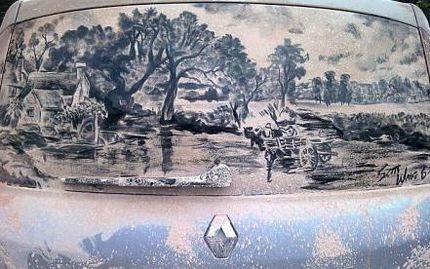 Biến ô tô phủ bụi thành tác phẩm nghệ thuật - 13
