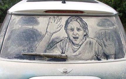 Biến ô tô phủ bụi thành tác phẩm nghệ thuật - 18
