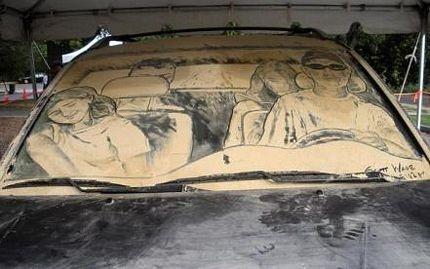 Biến ô tô phủ bụi thành tác phẩm nghệ thuật - 12