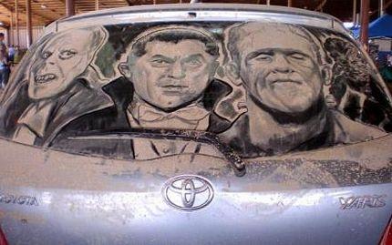 Biến ô tô phủ bụi thành tác phẩm nghệ thuật - 8