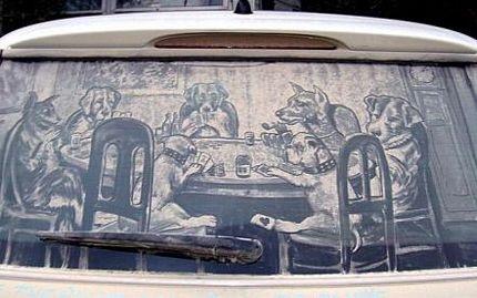 Biến ô tô phủ bụi thành tác phẩm nghệ thuật - 17