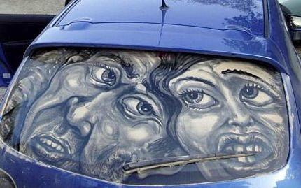Biến ô tô phủ bụi thành tác phẩm nghệ thuật - 5