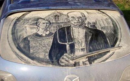 Biến ô tô phủ bụi thành tác phẩm nghệ thuật - 7