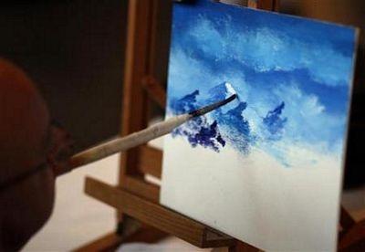 Triển lãm vẽ tranh bằng miệng và chân  - 6