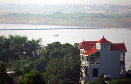 Chùm ảnh: Bắc cầu phao nối hai bờ sông Hồng - 15