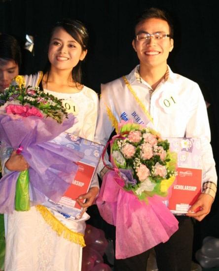Hai gương mặt sinh viên Giao thông thanh lịch nhất 2009 - 2