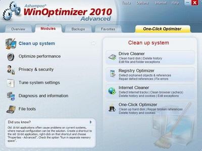 WinOptimizer 2010 - Tối ưu hệ thống chỉ bằng 1 cú click chuột - 6