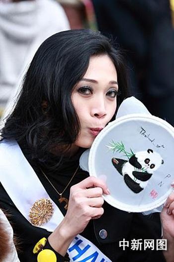 Người đẹp Hoa hậu quốc tế đi vãn cảnh Thành Đô - 14