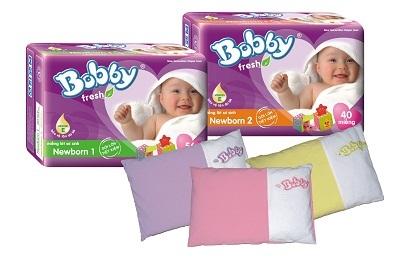 Nhận ngay gối xinh cho bé từ tã Bobby Fresh Newborn - 1