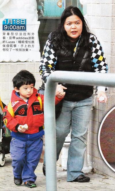 """Trương Bá Chi """"bế bụng"""" đưa con trai đi học - 6"""