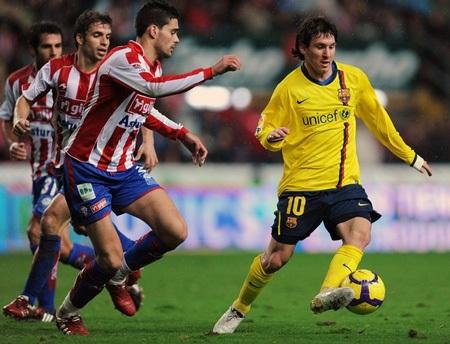 Hạ Gijon, Barcelona vững bước ở ngôi đầu - 3