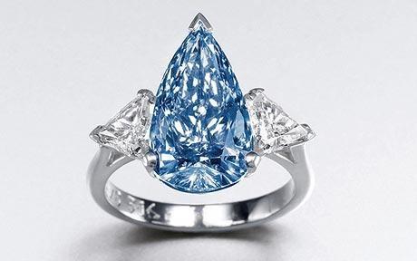 Đấu giá viên kim cương xanh hình quả lê quý hiếm - 1