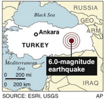 Động đất mạnh rung chuyển Thổ Nhĩ Kỳ, 57 người chết - 1
