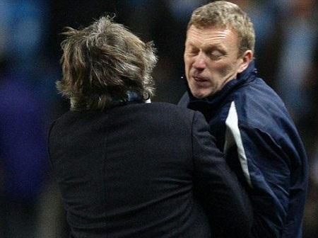 Man City bại trận, Mancini đòi tẩn đồng nghiệp Moyes - 1
