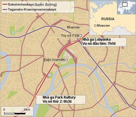Đánh bom kép tàu điện ngầm Mátxcơva, 38 người chết - 4