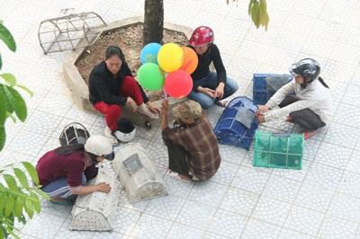 Phản cảm cảnh chèo kéo chim trong hội chùa - 1