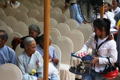 Phản cảm cảnh chèo kéo chim trong hội chùa - 3