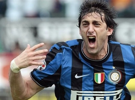 Milito liên tiếp về nhì cuộc đua Vua phá lưới Serie A - 2