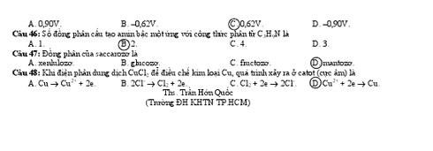 Gợi ý giải đề thi môn Hóa học tốt nghiệp THPT 2010 - 52