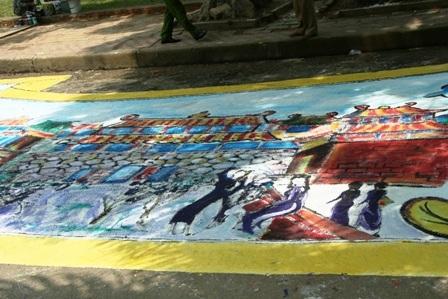 Gần 130 họa sĩ vẽ bức tranh dài 60m - 5