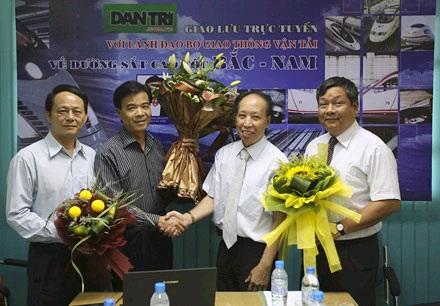 Giao lưu trực tuyến với lãnh đạo Bộ GTVT về đường sắt cao tốc - 1