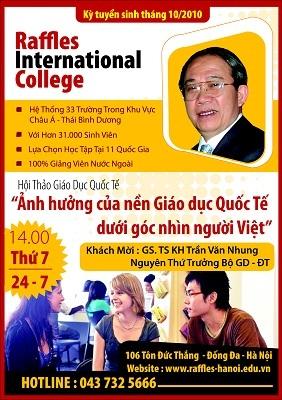 """Hội thảo giáo dục quốc tế: """"Ảnh hưởng của nền giáo dục quốc tế dưới góc nhìn người Việt"""" - 1"""