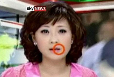 Phát thanh viên truyền hình nuốt muỗi trên chương trình trực tiếp  - 1
