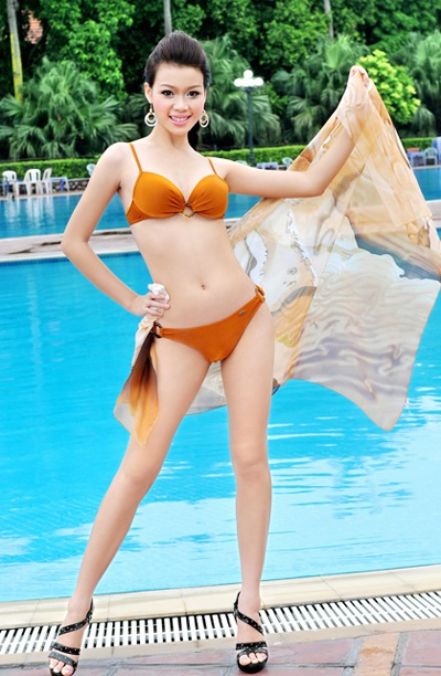 22 người đẹp miền Bắc khoe dáng với bikini - 9